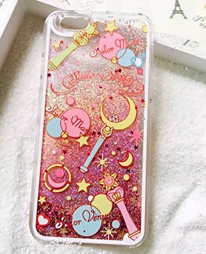Case for iPhone5s, Cartoon Cute Pretty Soldier Dynamic Glitter Powder Quicksand Case Cover For Apple iPhone 5/5s/SE (SailorA)
