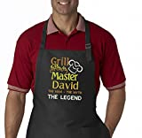 culinary grill - Grill Master The Man The Myth The Legend Personalized Men's Embroidered BBQ Apron