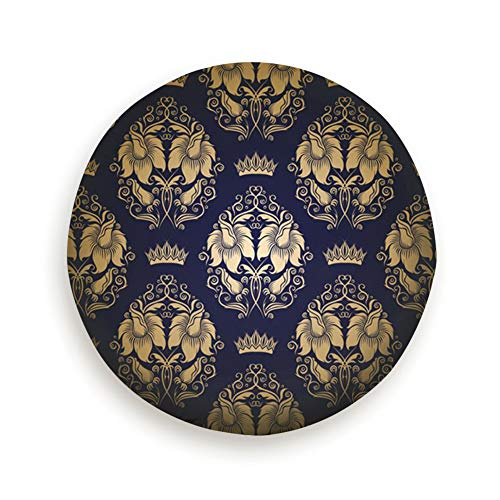 YANAIX Damask Floral Royal Pure Black 14