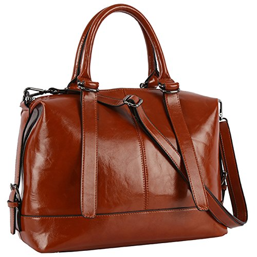 New Designer Handbags for Women,Top-handle Work Purses and Handbags,Women Casual Crossboday Bags by YAAMUU[L0010/brown] (Designer New Handbags)