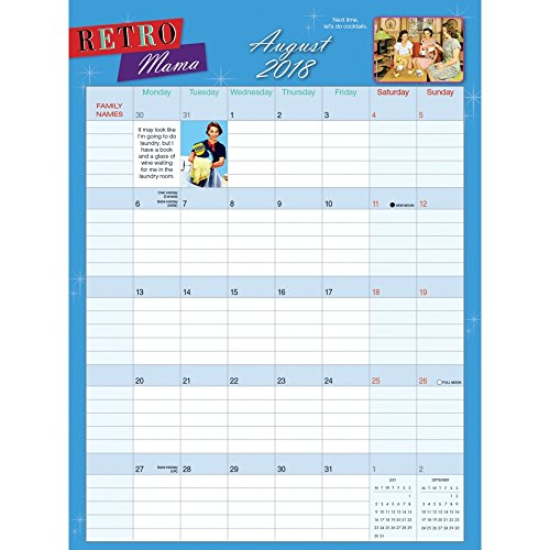 Retro Mama 2018 Magnetic Wall Planner Calendar Photo #2