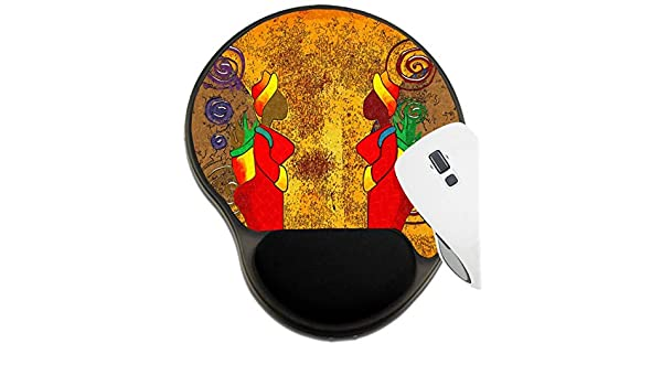 Mat with Wrist Support 35263779 Africa Retro Vintage Style MSD Mousepad Wrist Rest Protected Mouse Pads Image ID