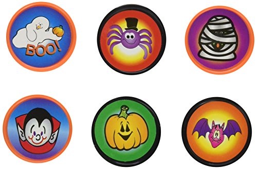 6 ~ Halloween Stampers / Ink Stamps ~ Self-inking ~ Assorted Designs ~ New / Shrink-wrapped -