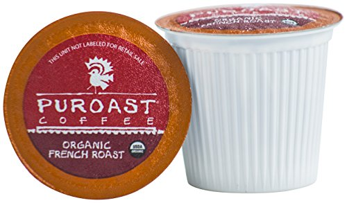 Puroast Low Acid Coffee Organic French Roast, 108 Count by Puroast Low Acid Coffee
