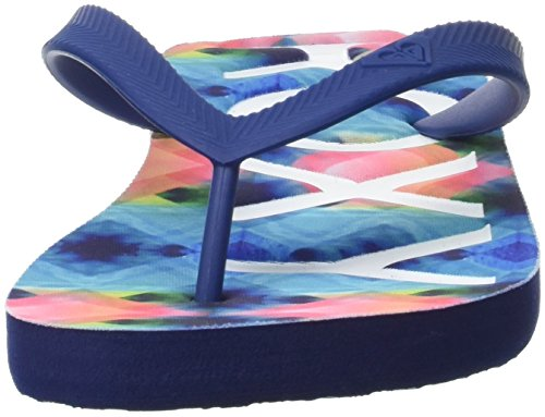 Roxy Playa Femme Multicolore Print blue Tongs white rrUq8zv