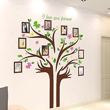 Amazon.com: Large Family Tree Wall Decal. Peel & stick vinyl sheet ...