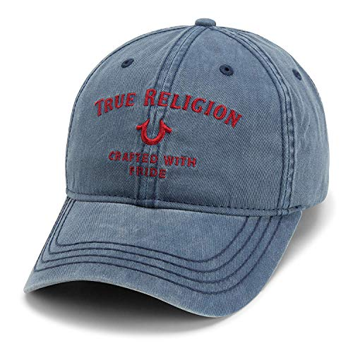 True Religion Men's Core Logo Baseball Cap, ace Blue, One Size