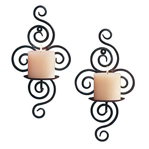 HUJI Elegant Pair of Iron Decorative Swirling Scroll Design