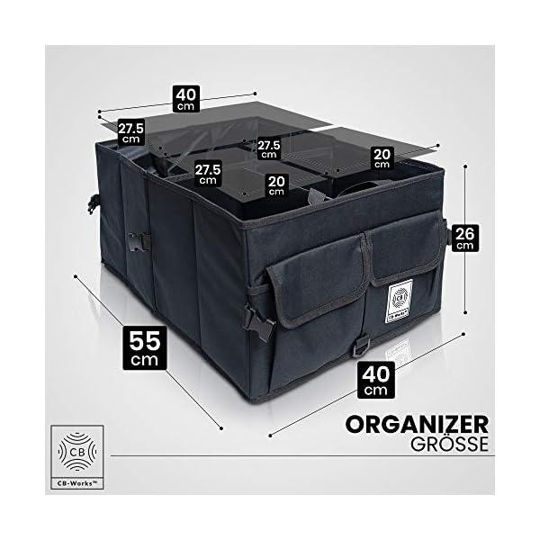 51mGEeqUVSL CB-WORKS Kofferraum Organizer Faltbare Auto Tasche, rutschfest mit Klett & extra Spanngurte, Zubehör Aufbewahrung…