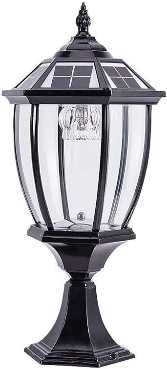 GXWLWXMS Luces de columna Faros de columnas Farola solar Farola de jardín Villa LED Lámpara de