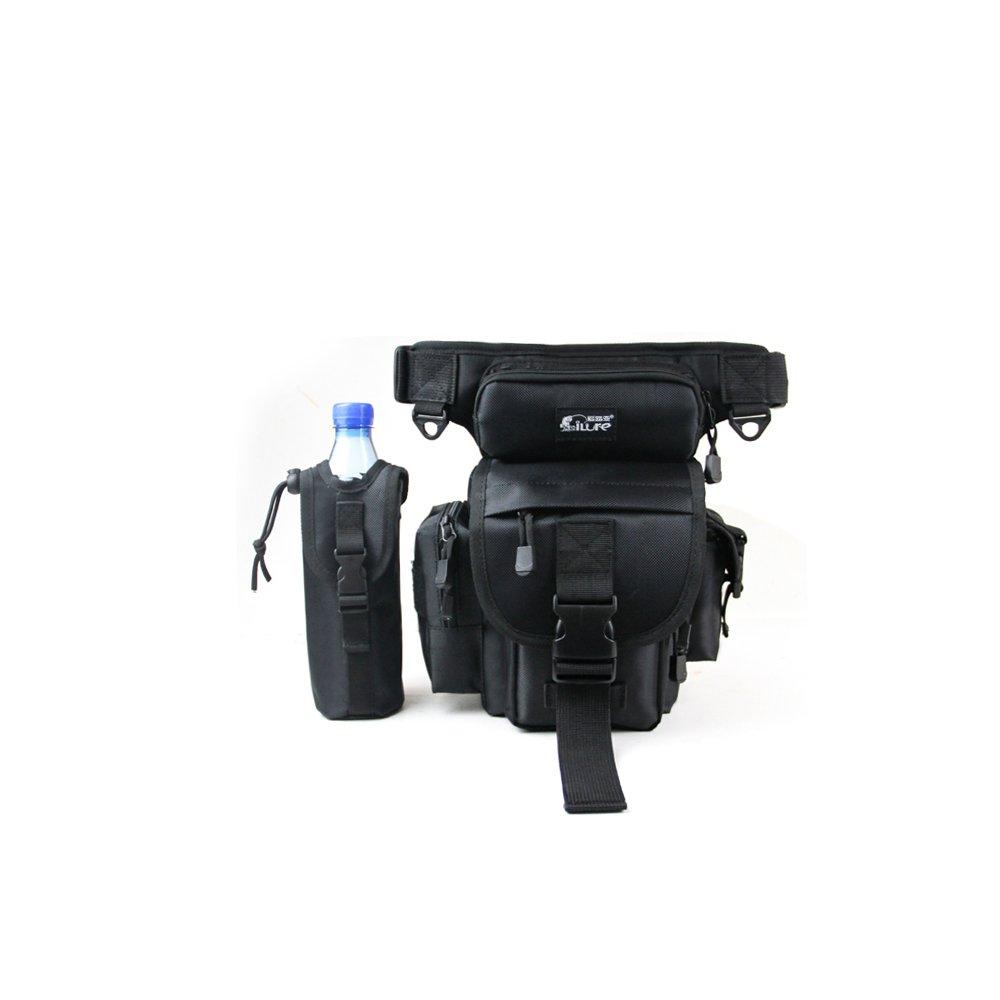 Primebuy Multifunction Fishing Leg Bag Waist Haversack Fishing Lure Tackle Waterproof (Black) by Primebuy