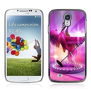 CASETOPIA / Pink Flamingo / Samsung Galaxy S4 I9500 / Prima Delgada SLIM Casa Carcasa Funda Case Bandera Cover Armor Shell PC / Aliminium