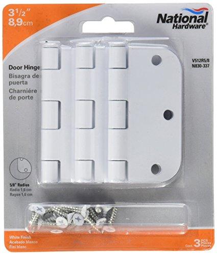 National Mfg Spectrum Brands Hhi N830 337 Door Hinge  3 5 Inch  White  3 Pack
