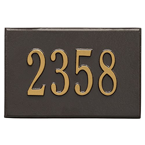 (Whitehall Products 1426OG Wall Mailbox Plaque with One Line, French Bronze)