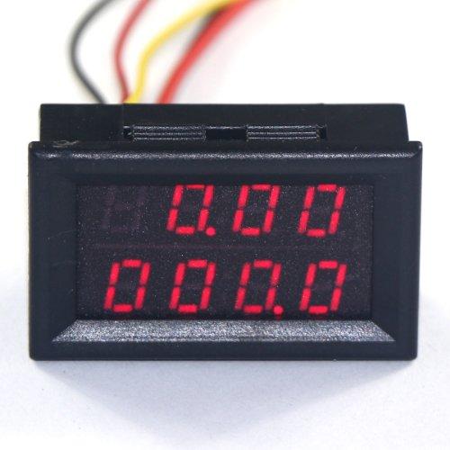 drok-028-led-4-digit-digital-gauge-dc-0-33v-0-9999ma-0-3a-12v-current-measurement-meter-panel-volt-a