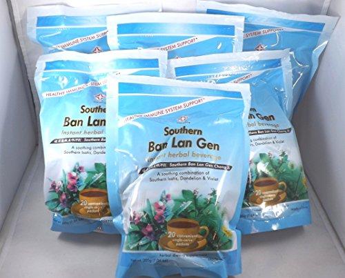 6 Pack! Ban Lan Gen Chong Ji, Instant Herbal Beverage, Tea, Drink, 6 x 20 servings