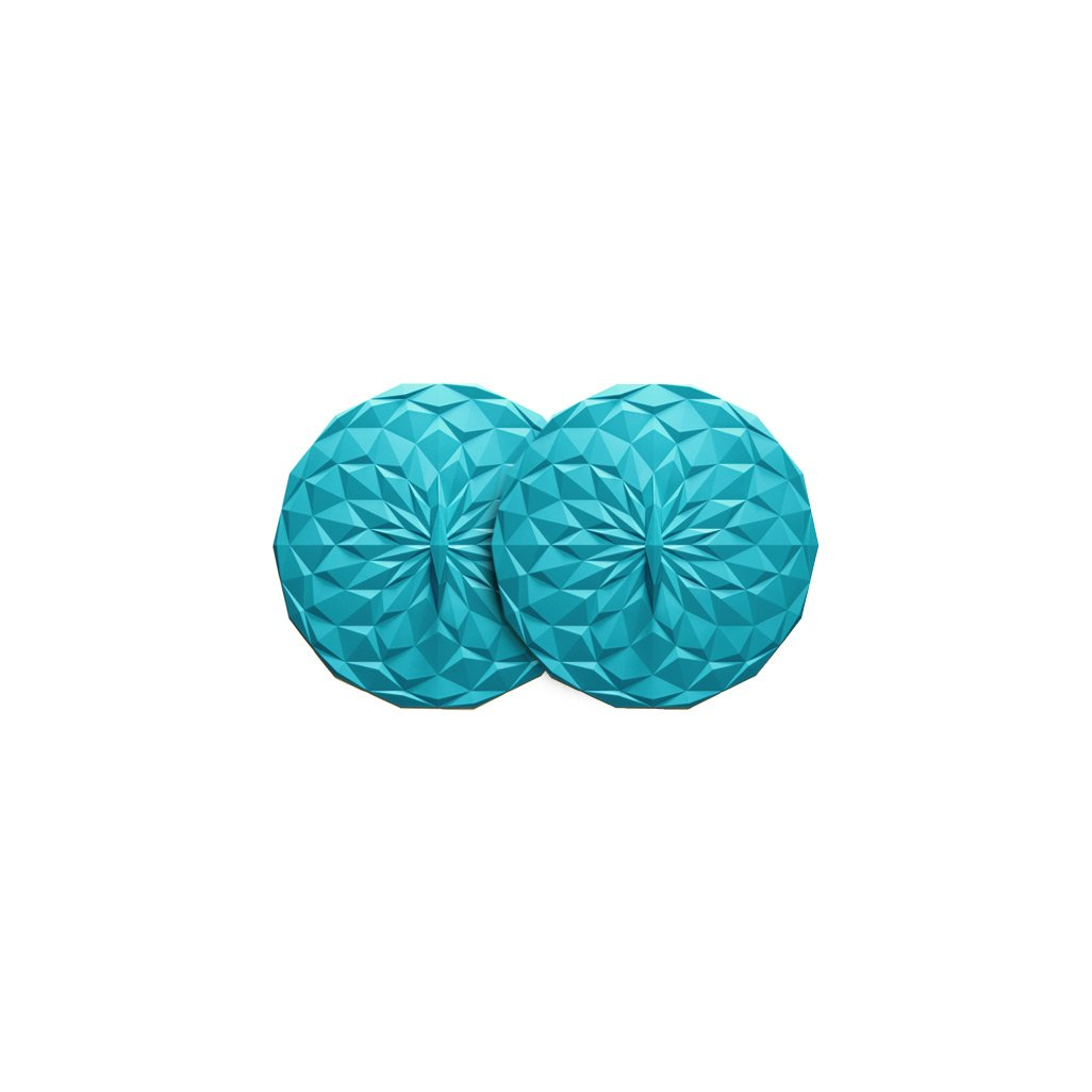 GIR: Get It Right Premium Silicone Round Lid, 4 Inches, Teal, 2 Pack
