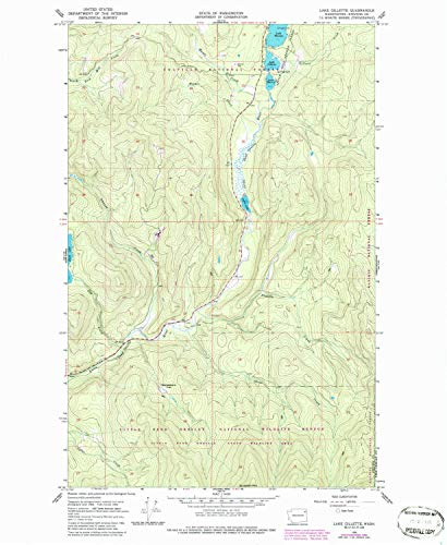 YellowMaps Lake Gillette WA topo map, 1:24000 Scale, 7.5 X 7.5 Minute, Historical, 1966, Updated 1986, 26.8 x 22 in - Tyvek