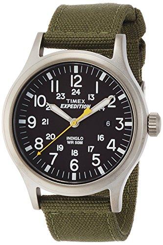 Timex-Expedition-T49961SU-Reloj-de-cuarzo-para-hombres-correa-de-nailon-color-verde