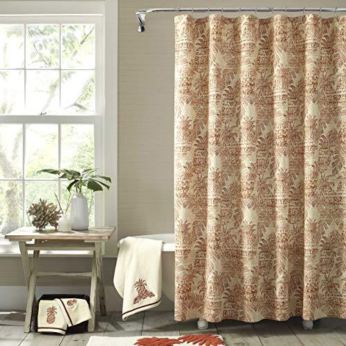 Tommy Bahama Batik Pineapple Shower Curtain 72x72 Orange