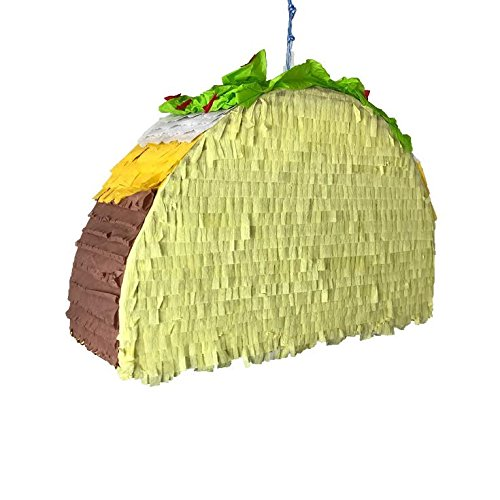 Perfect Piñata - Taco Supreme - 17.5'' x 11.5'' x 4.5'' - 6lb Candy Capacity | Fiesta Piñata, Decoration, Birthday, Celebration, Party, Mexican Party, Hand Made, by Perfect Pinata