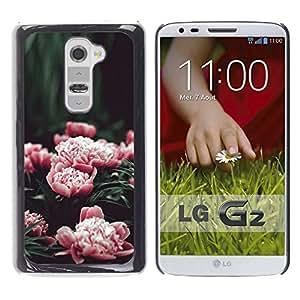 iKiki Tech / Estuche rígido - Pink Flowers Garden Blossoming - LG G2 D800 D802 D802TA D803 VS980 LS980