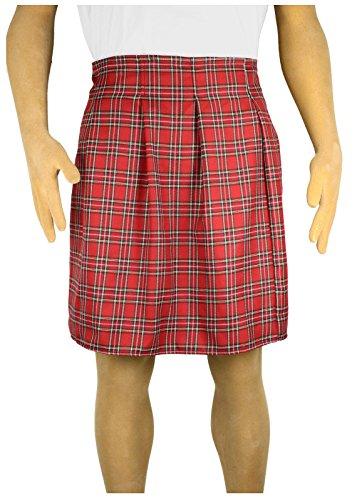Men's Scottish Kilt Costume (Standard (30, Piper Red) (Golfer Costume Men)