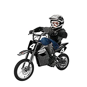 Razor MX650 17 MPH Steel Electric Dirt Rocket Motor Bike for Kids 12+, Black