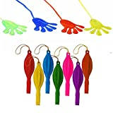 GOLF 24Pcs 18' Punch Balloons,20PCS Glitter Sticky,Hands Assorted Color Neon Punch Balloons Kids,Party, Wedding, Fun Balloons