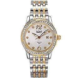 Ladies Crystal Watch with Diamond Hour Markers