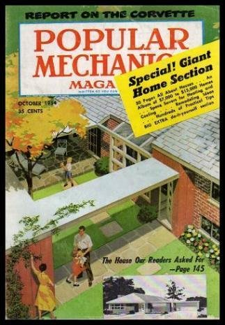 POPULAR MECHANICS - Volume 102, number 4 - October 1954: Monsters on Parade; Buffalo Cattle and Now Oil; The Owners Report on the Corvette; Don't Get Lost in the Wilderness; Swamp-Buggy Steeplechase