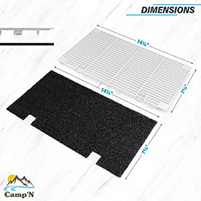 Camp'N – Dometic Compatible RV A/C Replacement Grille-Replaces Dometic 3104928.019 Includes Grill and 2 Replacement Foam Air Filters: Automotive