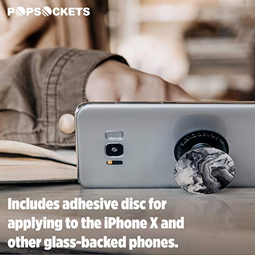 PopSockets: Collapsible Grip and Stand for Phones and Tablets - Ghost Marble by PopSockets (Image #5)