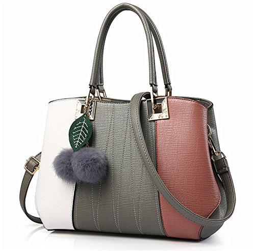Bolsos de señora Xinmaoyuan Lady Bolsos Bolso de Hombro salvajes simple bolsa bandolera, Rosa Gris