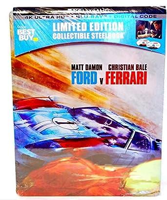 Amazon Com Ford V Ferrari U S Exclusive Steelbook 4k Ultra Hd Blu Ray Digital Movies Tv