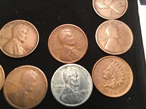 26 1909 1956 Lincoln Wheat Pennies cents Come in a Velvet Bag Good Fine Details