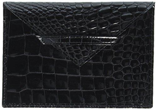 Envelope Croco - Budd Leather Company Croco Bidente Photo Envelope, Black, 4.5 x 6.5