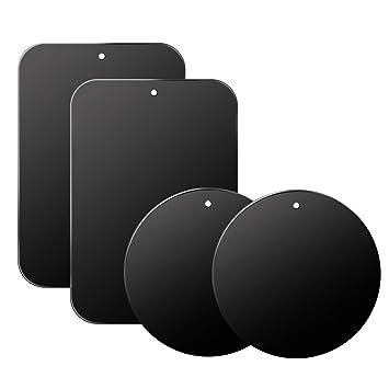 Schwarz Volport Metallplatte Handy 4pcs Handyhalter Magnet Metallplatte Handyhalterung Ersatz Magnet Halterung Handy Magnetische Handyhalterung Gute Qualit/ät