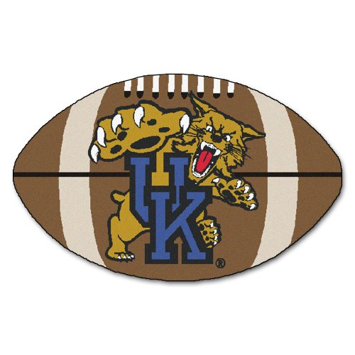 FANMATS NCAA University of Kentucky Wildcats Nylon Face Football Rug