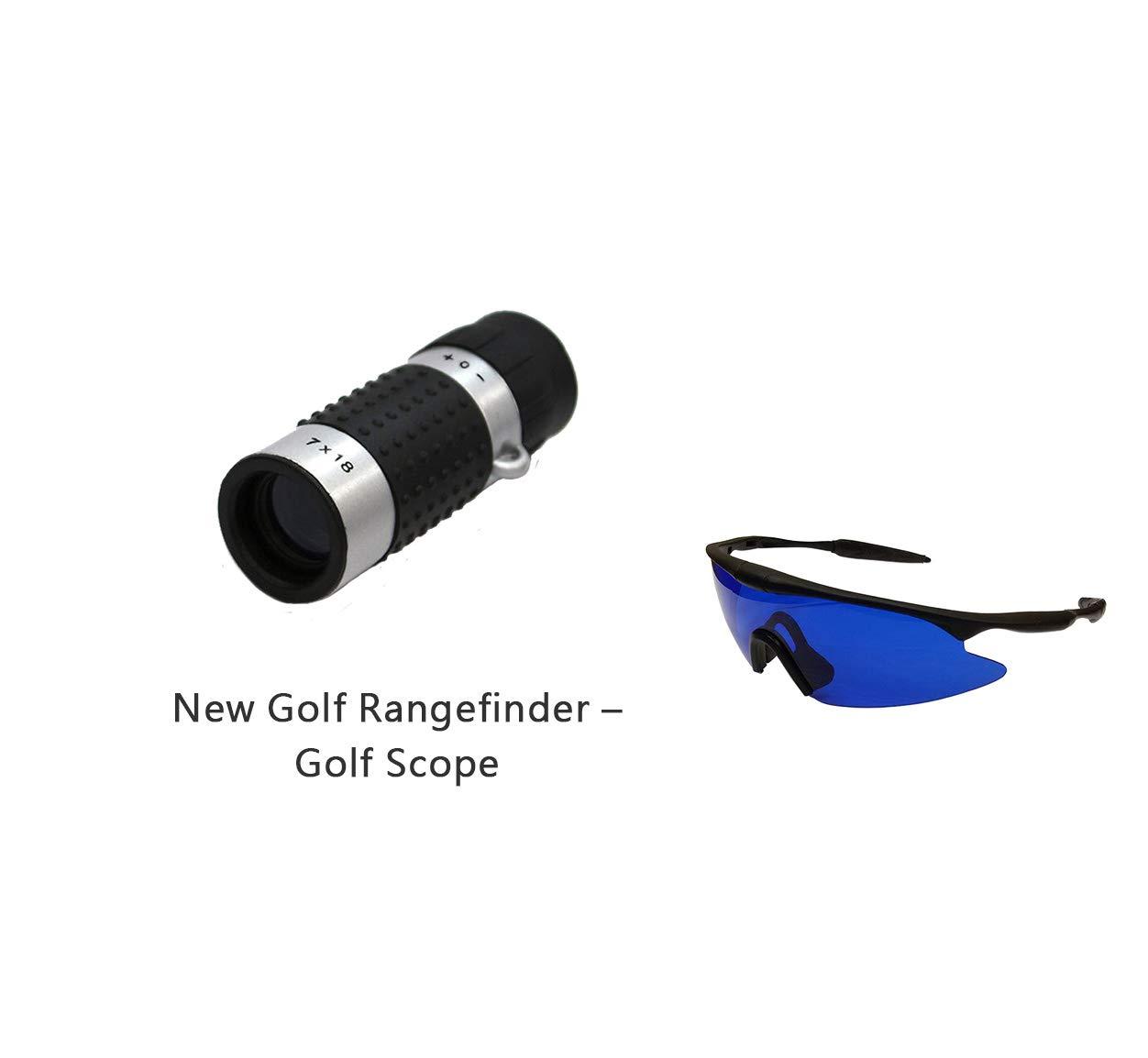 IDS Home POSMA GF100E Set Golf High Definition Rangefinder Mini Monocular Pocket Scope+Golf Ball Finder Hunter Retriever Glasses