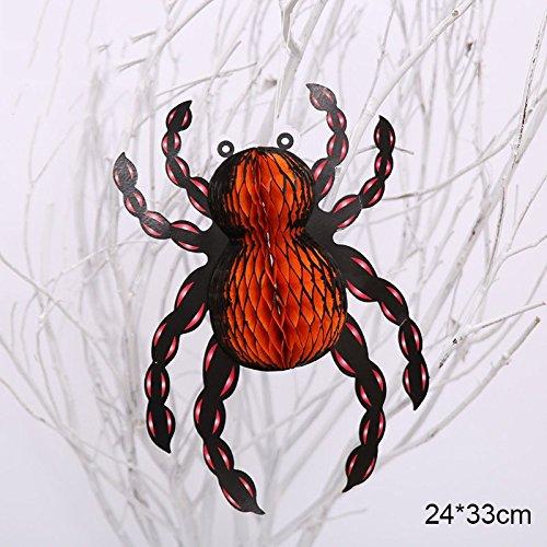 Smartcoco DIY Halloween Ghost Spider Origami Hanging Ornaments Party Decoration (Diy Halloween Coffin Prop)