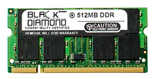 512MB Black Diamond Memory Module for Acer TravelMate 2100 Series DDR SO-DIMM 200pin PC2100 266MHz (2100 Ddr 266mhz Sodimm Memory)