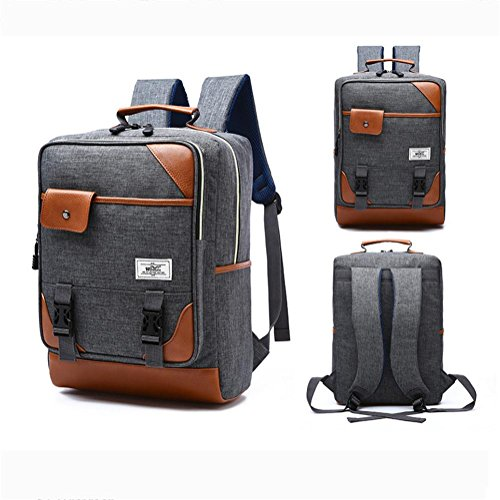 Leisure Women Nylon High Shoulders Daypack Grey and Capacity Package Backpack Men Laptop qttw6rzI