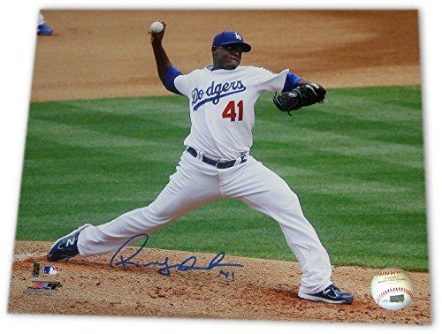 (Rubby de la Rosa Signed 8X10 Photo Autograph LA Dodgers Home Pitching Auto w/COA )