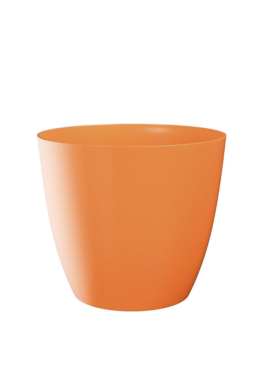 Plastkon D/éco Pot Decorative Flower Pot Ella Brillant Diam/ètre 15/cm Orange