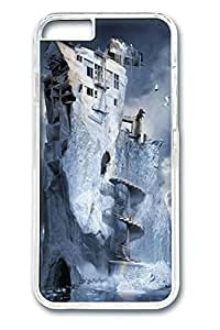 Ice House art Polycarbonate Hard Case Cover for iphone 6 plus 5.5inch Transparent