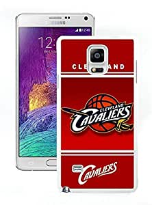 New Custom Design Cover Case For Samsung Galaxy Note 4 N910A N910T N910P N910V N910R4 Cleveland Cavaliers 10 White Phone Case