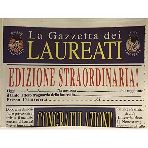 Di/&Gi Biglietto Auguri Giornale Cm 32x49 la Gazzetta dei Laureati Laurea