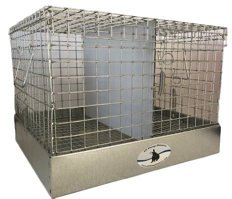 18' High Tray Dividers - All Things Bunnies Rabbit Carrier/Transport Cage - 2 Hole (18x18x14)