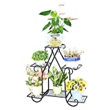 AIDELAI flower rack European Style Pastoral Creative Metal Flower Racks Indoor And Outdoor Living Room Balcony Decoration Multiple Layers Flower Pot Rack Patio Garden Pergolas (Color : #1)